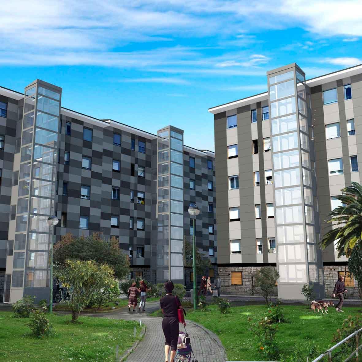 Estudio rehabilitaci n conjuntos residenciales en avil s - Estudio arquitectura asturias ...